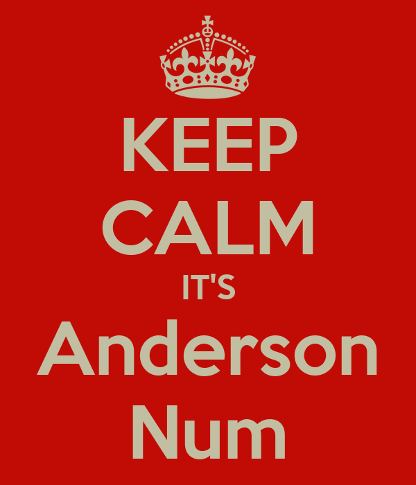 KEEP CALM IT'S Anderson Num