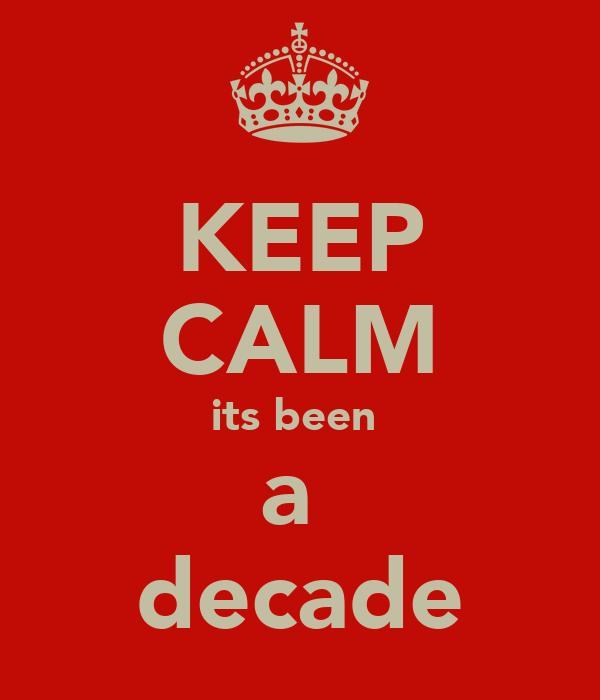KEEP CALM its been  a  decade