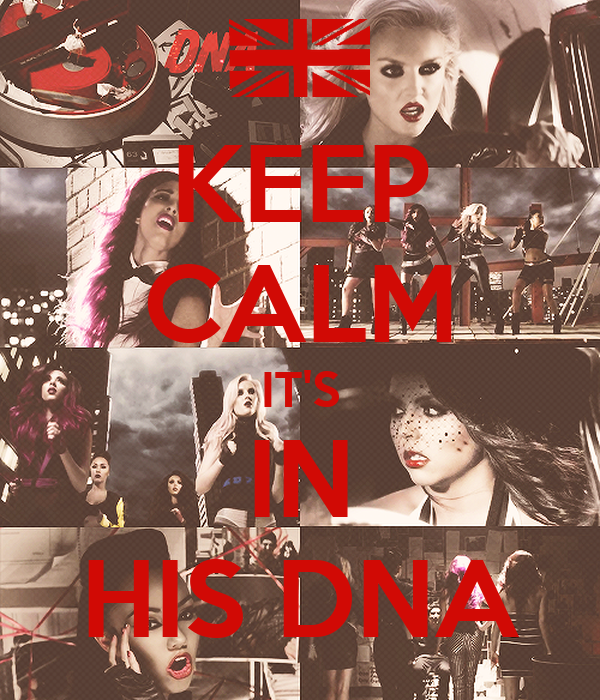 KEEP CALM IT'S IN HIS DNA