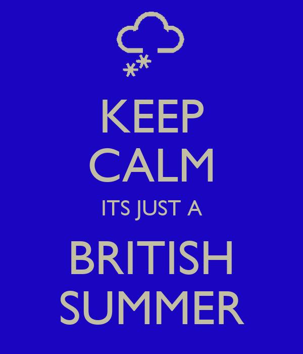 KEEP CALM ITS JUST A BRITISH SUMMER