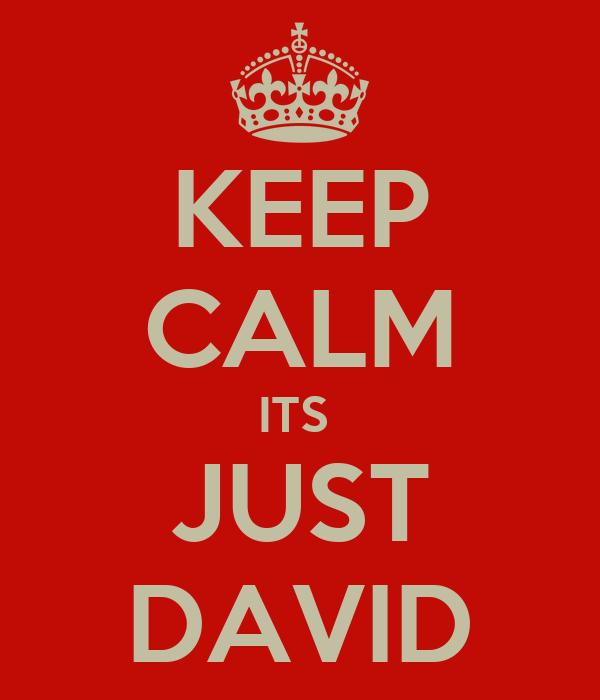 KEEP CALM ITS  JUST DAVID