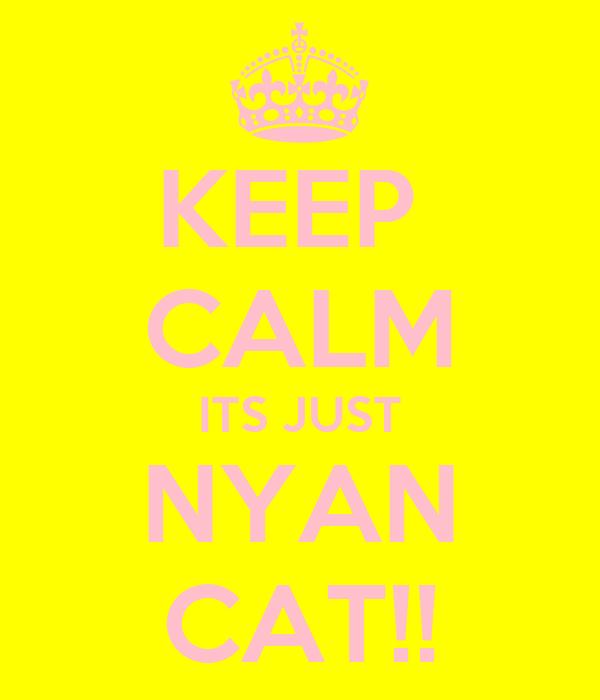 KEEP  CALM ITS JUST NYAN CAT!!