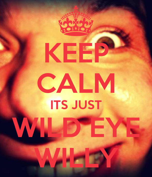 KEEP CALM ITS JUST WILD EYE WILLY