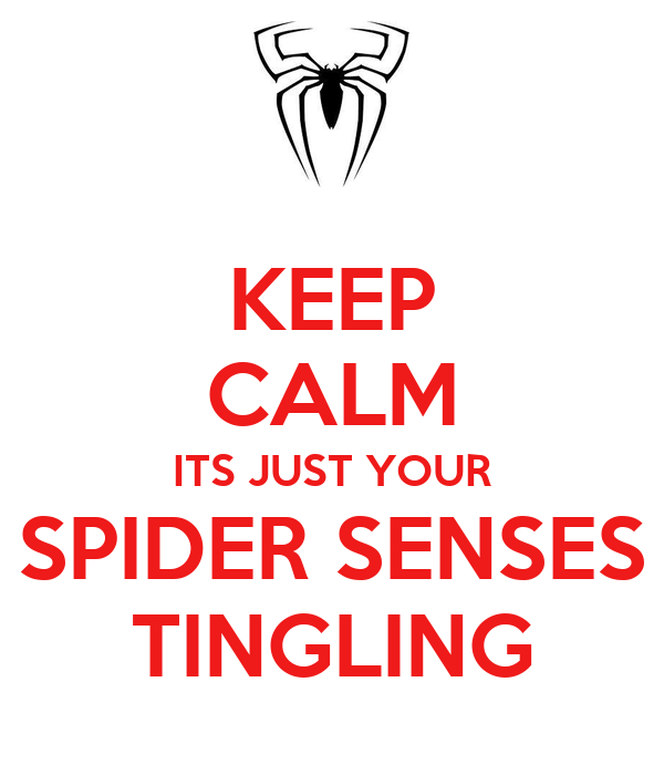 KEEP CALM ITS JUST YOUR SPIDER SENSES TINGLING