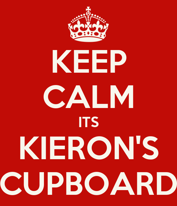 KEEP CALM ITS KIERON'S CUPBOARD