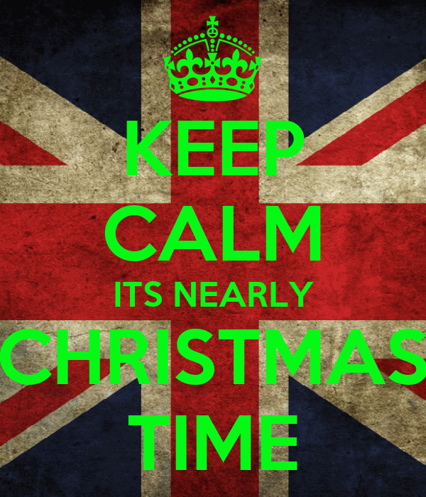 KEEP CALM ITS NEARLY CHRISTMAS TIME