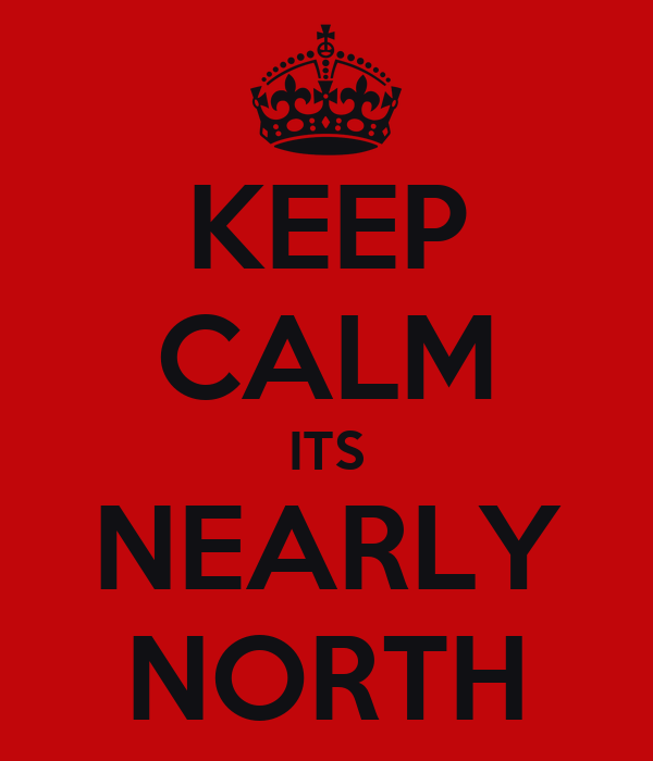 KEEP CALM ITS NEARLY NORTH