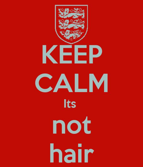 KEEP CALM Its  not hair
