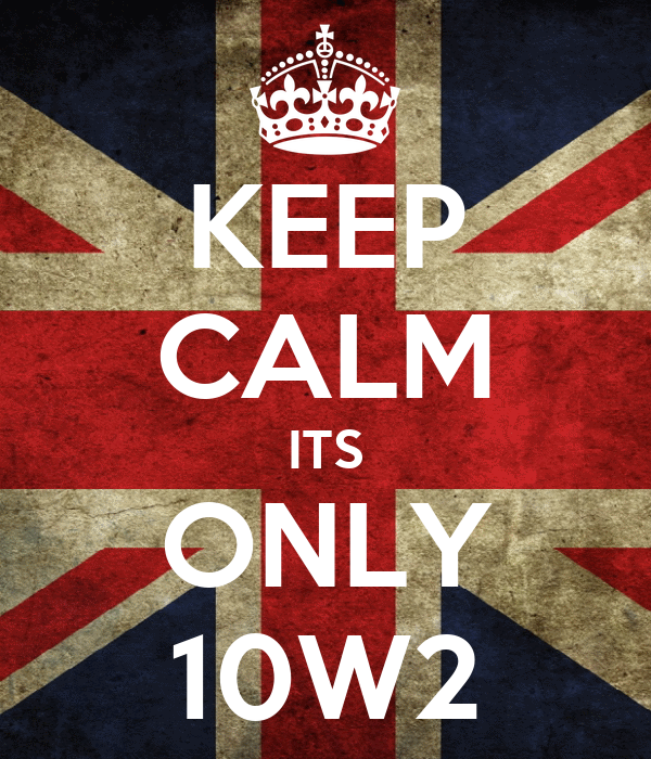 KEEP CALM ITS ONLY 10W2
