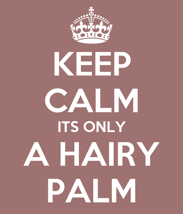 KEEP CALM ITS ONLY A HAIRY PALM
