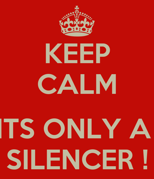 KEEP CALM  ITS ONLY A  SILENCER !