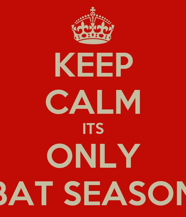 KEEP CALM ITS ONLY BAT SEASON