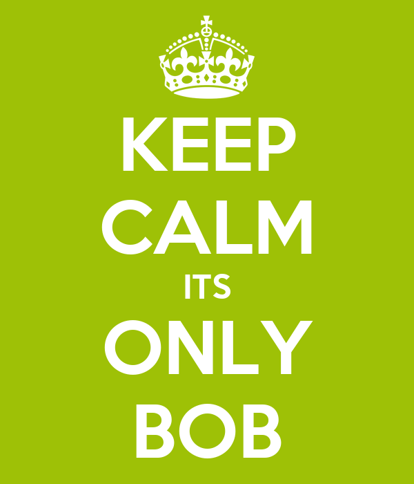 KEEP CALM ITS ONLY BOB