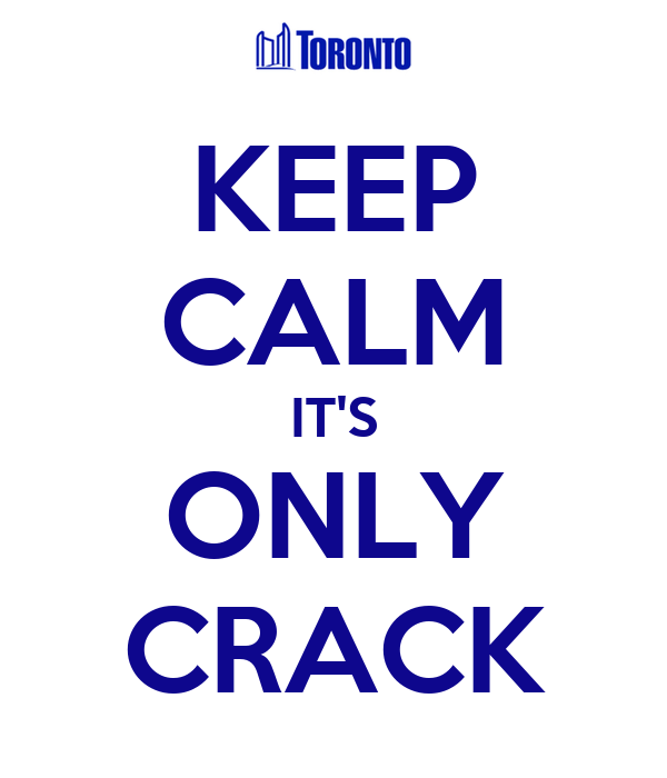KEEP CALM IT'S ONLY CRACK