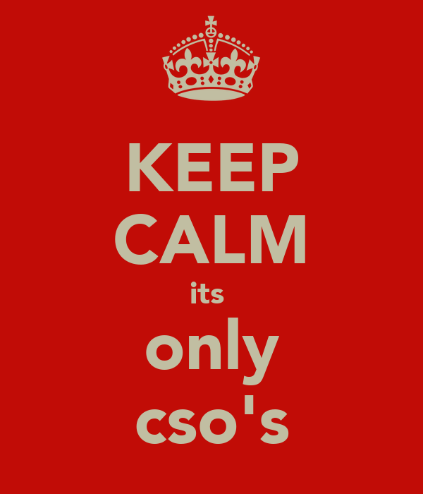 KEEP CALM its  only cso's