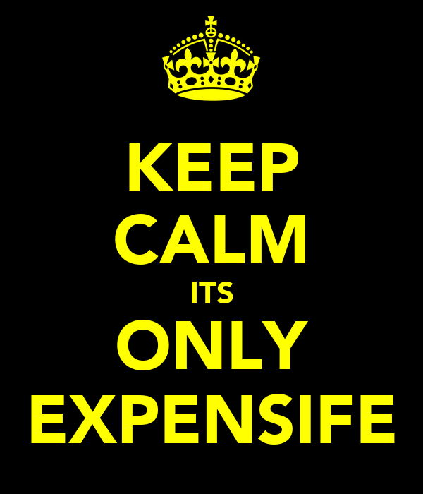 KEEP CALM ITS ONLY EXPENSIFE