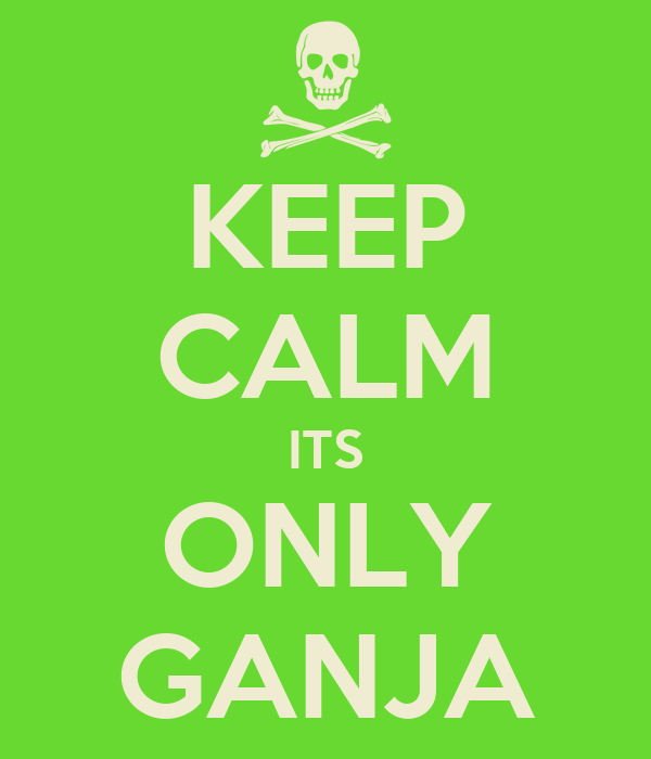 KEEP CALM ITS ONLY GANJA