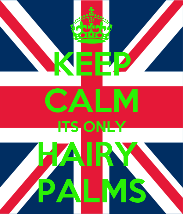 KEEP CALM ITS ONLY HAIRY  PALMS