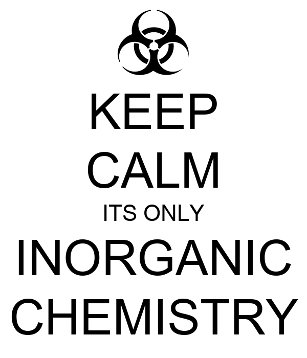 KEEP CALM ITS ONLY INORGANIC CHEMISTRY