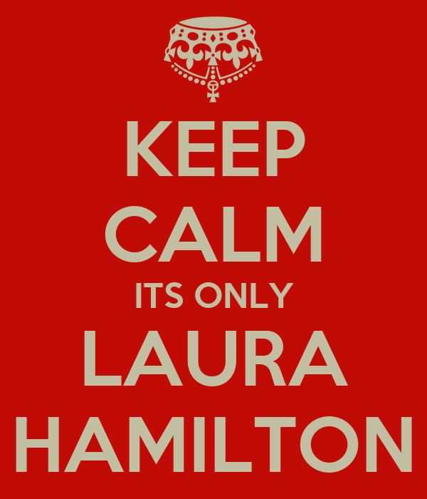 KEEP CALM ITS ONLY LAURA HAMILTON