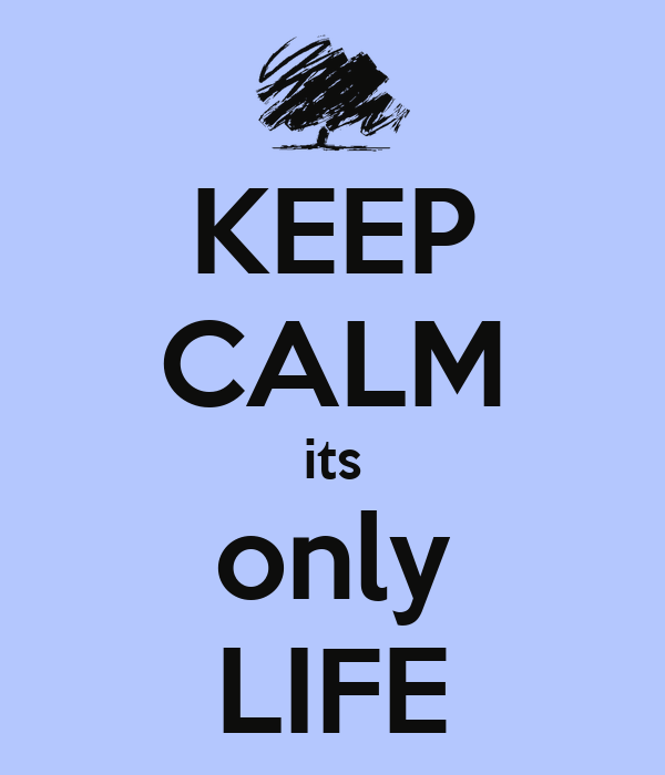 KEEP CALM its only LIFE