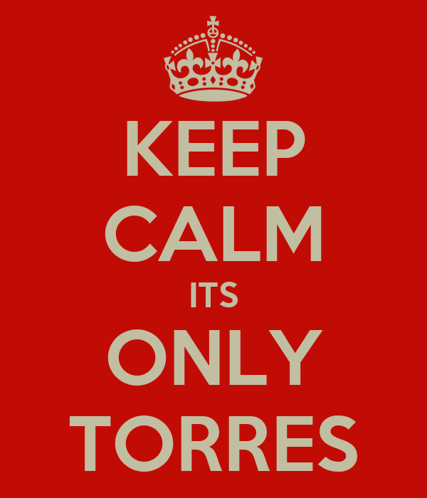 KEEP CALM ITS ONLY TORRES