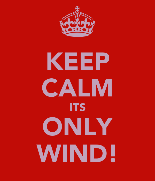 KEEP CALM ITS ONLY WIND!