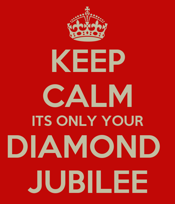 KEEP CALM ITS ONLY YOUR DIAMOND  JUBILEE