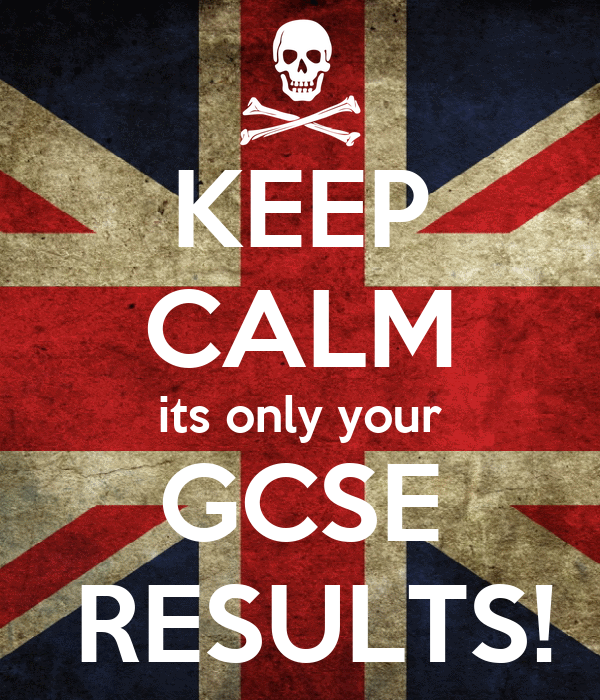 KEEP CALM its only your GCSE  RESULTS!