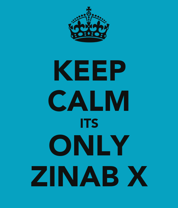 KEEP CALM ITS ONLY ZINAB X