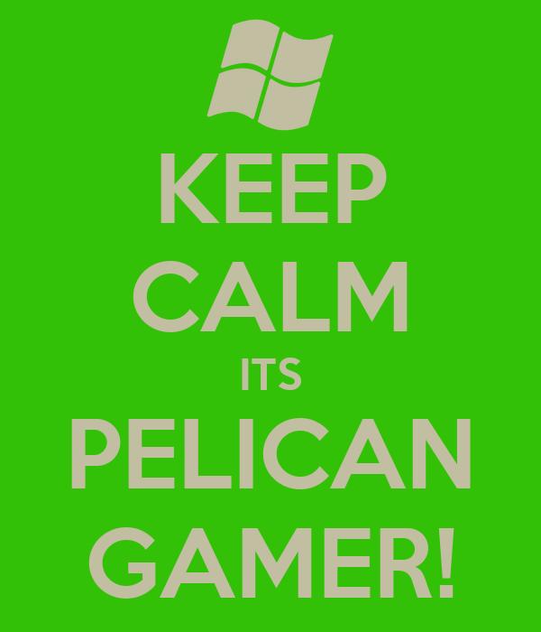 KEEP CALM ITS PELICAN GAMER!