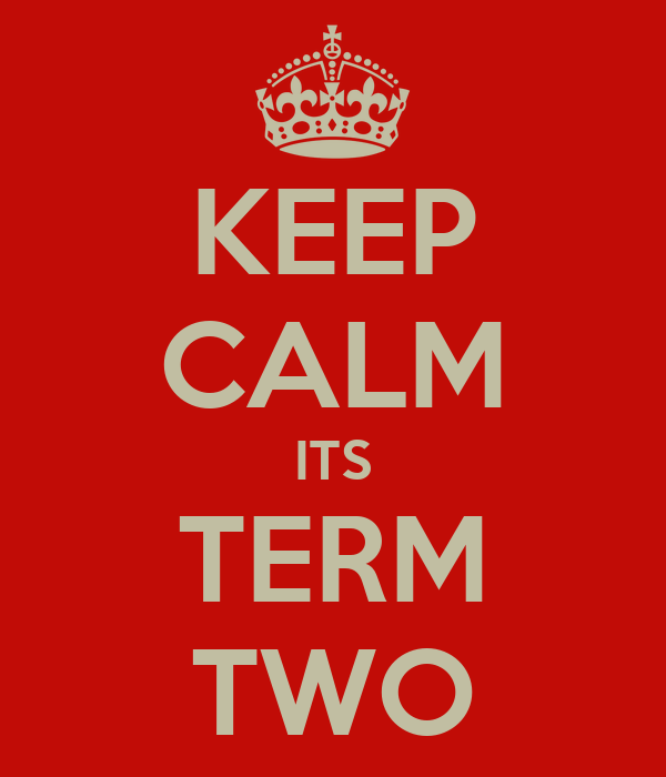 KEEP CALM ITS TERM TWO