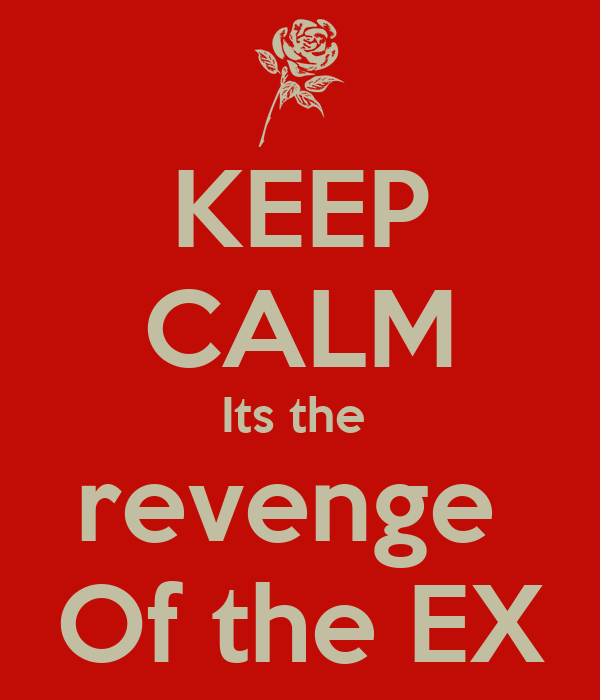 KEEP CALM Its the  revenge  Of the EX