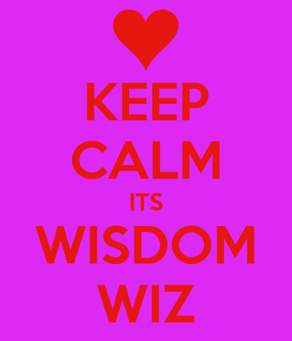 KEEP CALM ITS WISDOM WIZ