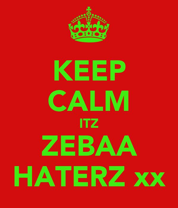KEEP CALM ITZ ZEBAA HATERZ xx