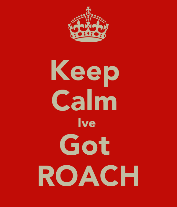 Keep  Calm  Ive  Got  ROACH