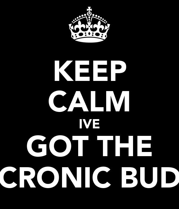 KEEP CALM IVE GOT THE CRONIC BUD