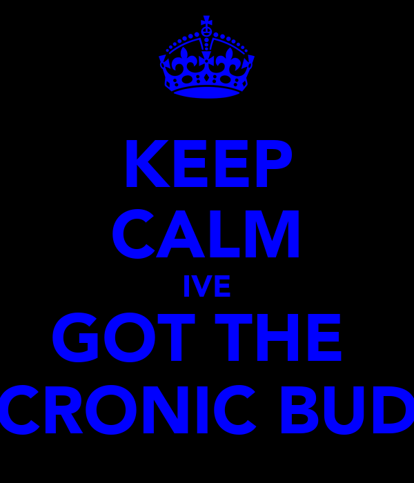 KEEP CALM IVE GOT THE  CRONIC BUD