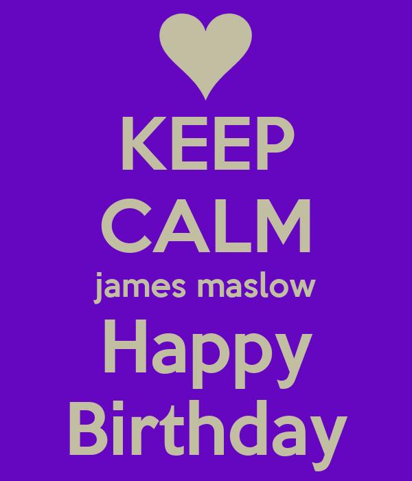 KEEP CALM james maslow Happy Birthday
