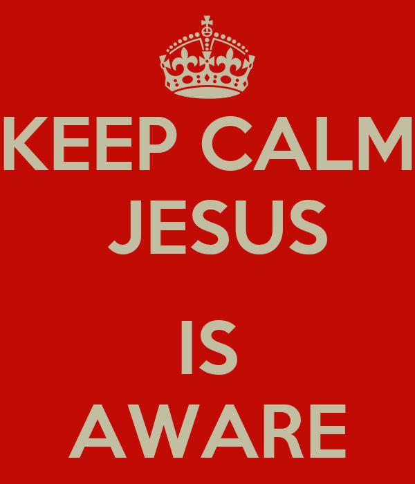 KEEP CALM  JESUS  IS AWARE
