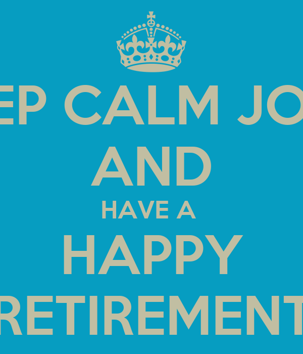 retirement posters