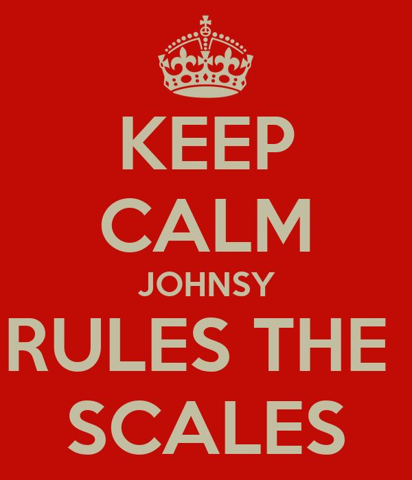 KEEP CALM JOHNSY RULES THE  SCALES