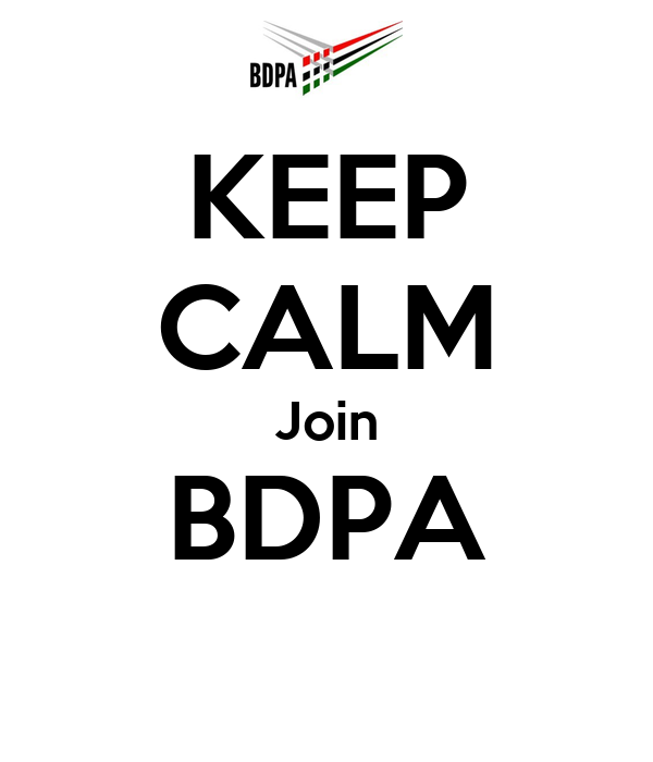 KEEP CALM Join BDPA