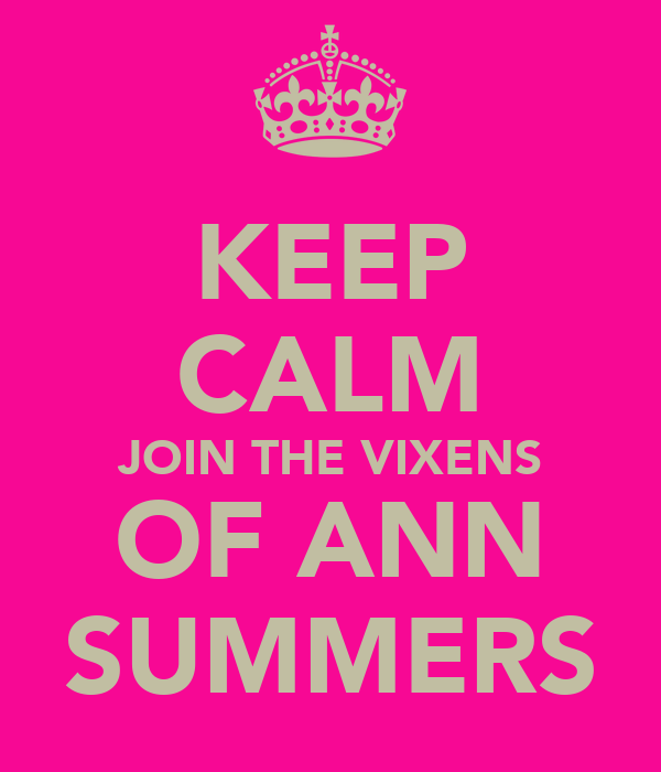 KEEP CALM JOIN THE VIXENS OF ANN SUMMERS