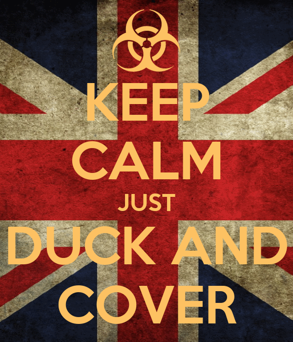 KEEP CALM JUST DUCK AND COVER