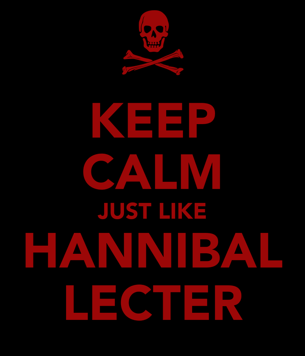 KEEP CALM JUST LIKE HANNIBAL LECTER