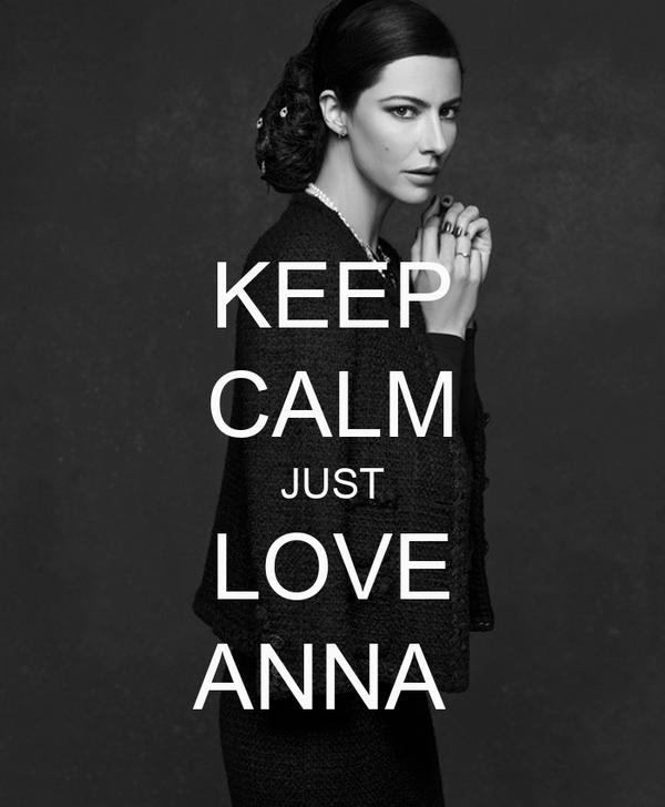 KEEP CALM JUST LOVE ANNA