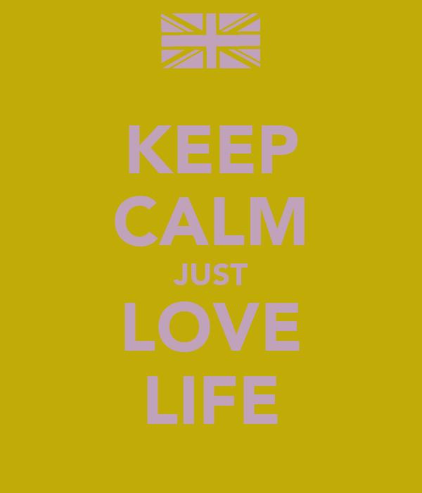 KEEP CALM JUST LOVE LIFE