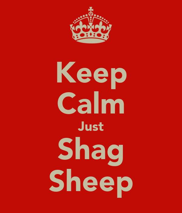 Keep Calm Just Shag Sheep