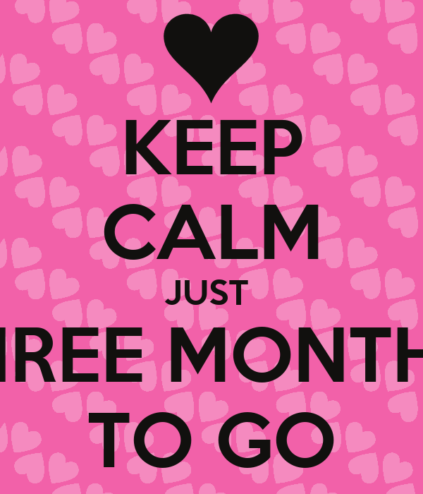 KEEP CALM JUST  THREE MONTHS  TO GO
